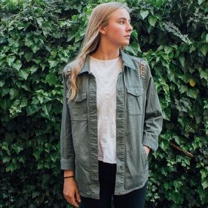 H&M Divided Army Green Jacket